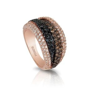 Effy Ring 14K Rose with Diamonds